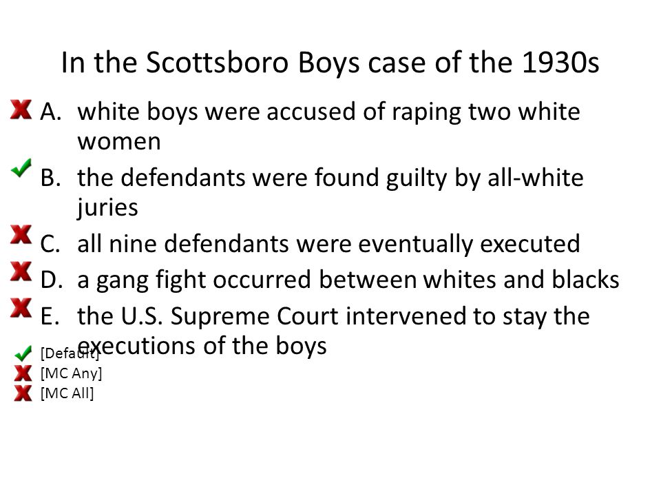In the Scottsboro Boys case of the 1930s