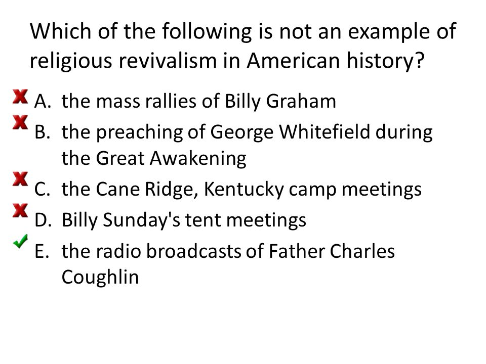 Which of the following is not an example of religious revivalism in American history