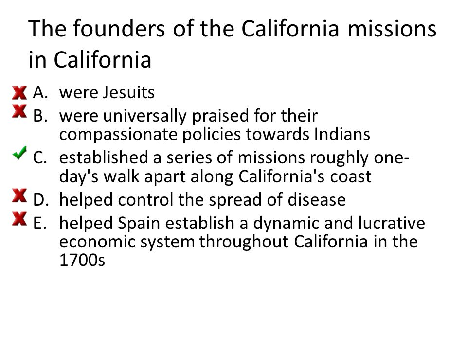 The founders of the California missions in California