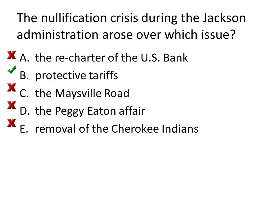 The nullification crisis during the Jackson administration arose over which issue