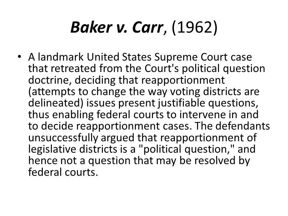 Baker v. Carr, (1962)
