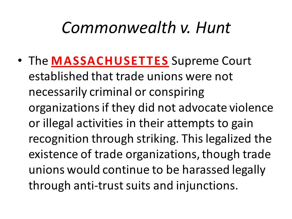 Commonwealth v. Hunt