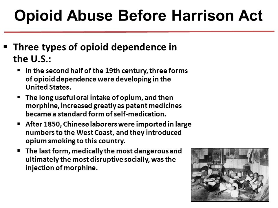 Opioid Abuse Before Harrison Act