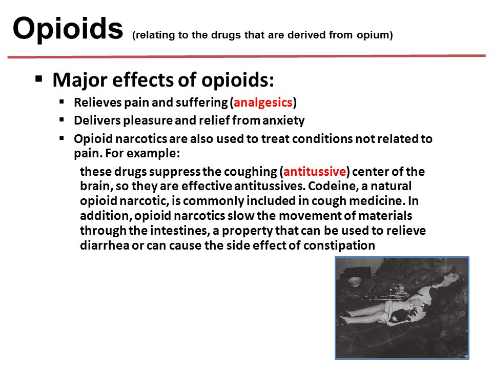 Opioids (relating to the drugs that are derived from opium)