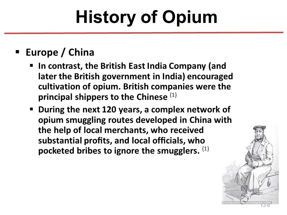 History of Opium Europe / China