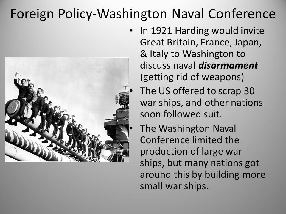 Foreign Policy-Washington Naval Conference