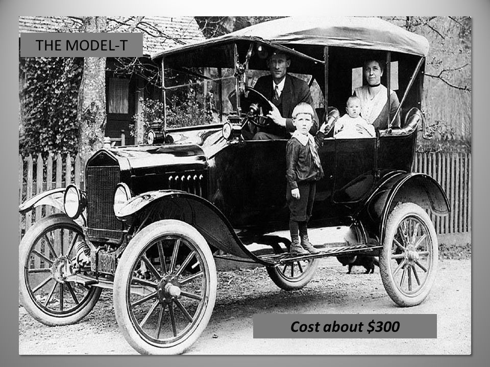THE MODEL-T Cost about $300