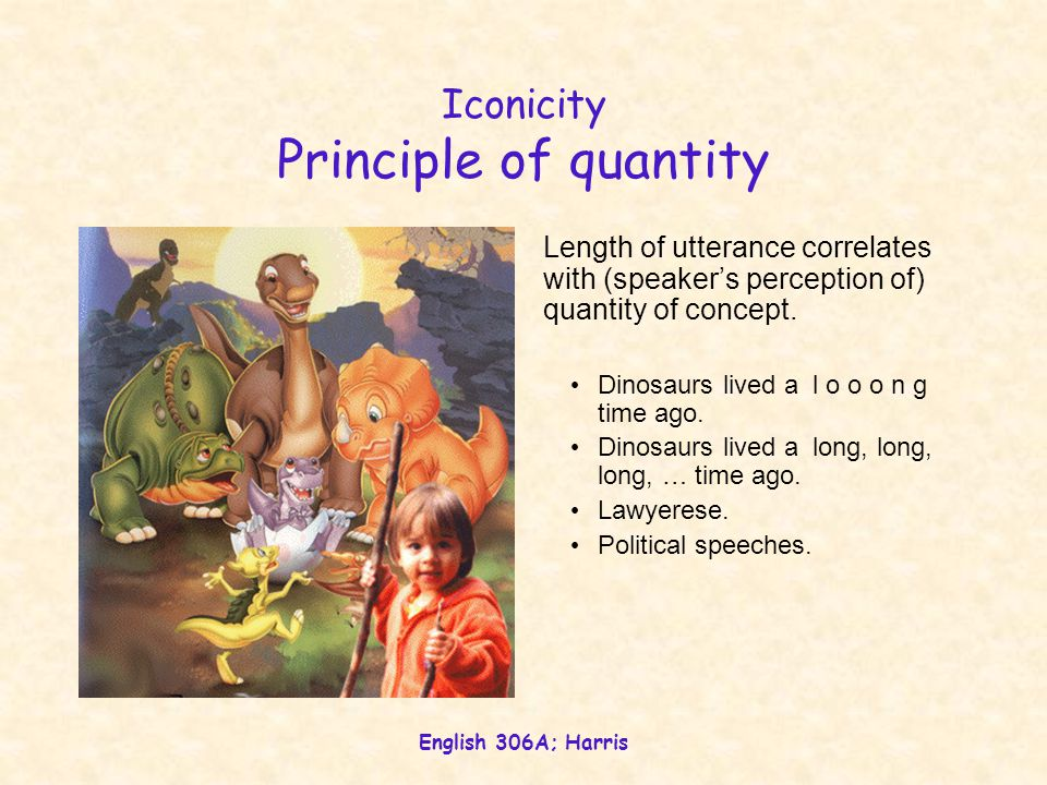 Iconicity Principle of quantity