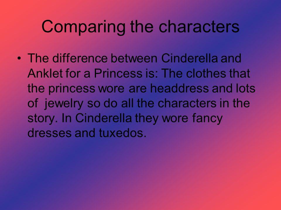 Comparing the characters