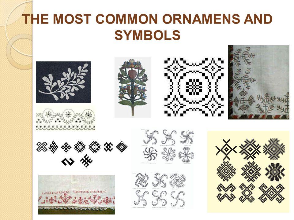 THE MOST COMMON ORNAMENS AND SYMBOLS