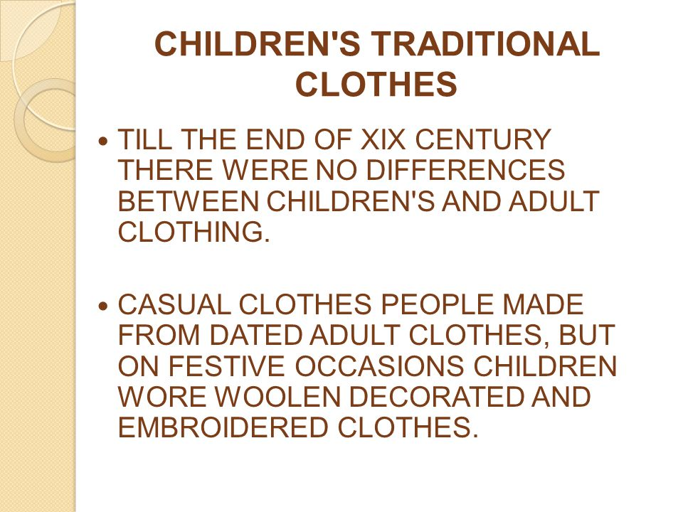 CHILDREN S TRADITIONAL CLOTHES