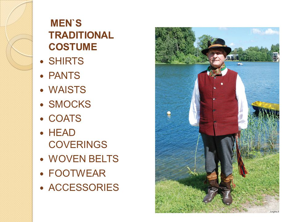 MEN`S TRADITIONAL COSTUME