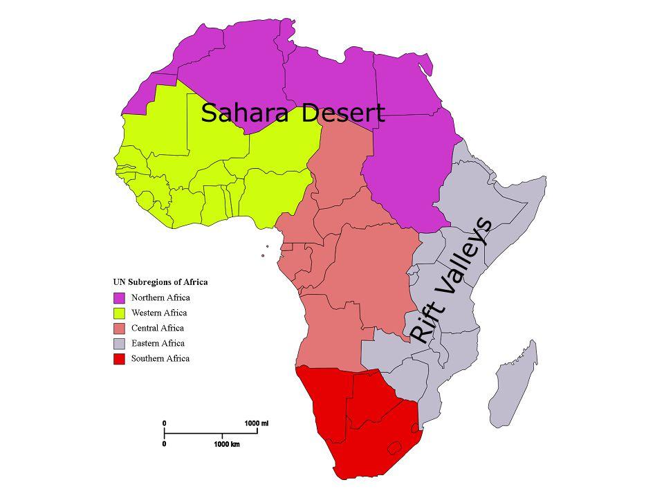 Sahara Desert Rift Valleys