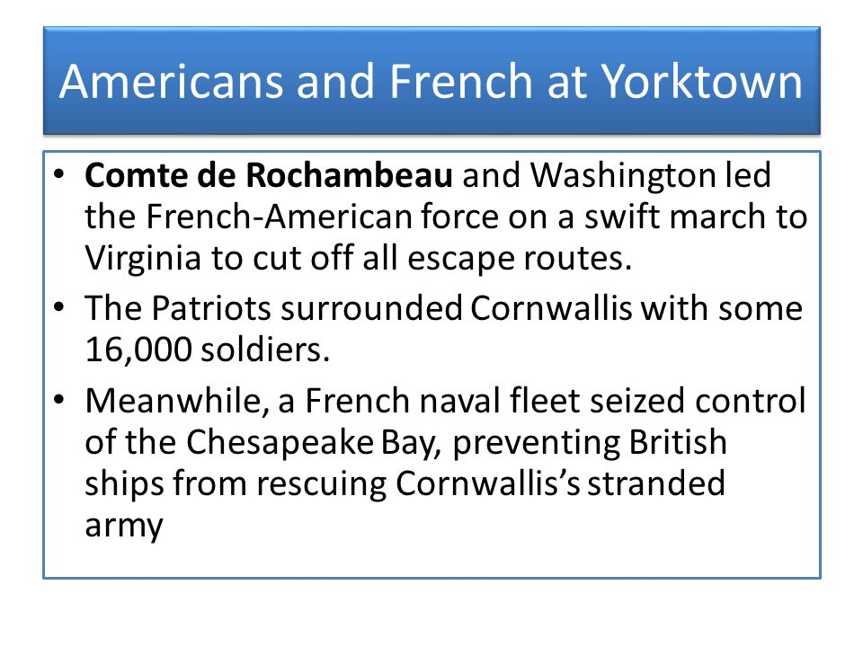 Americans and French at Yorktown