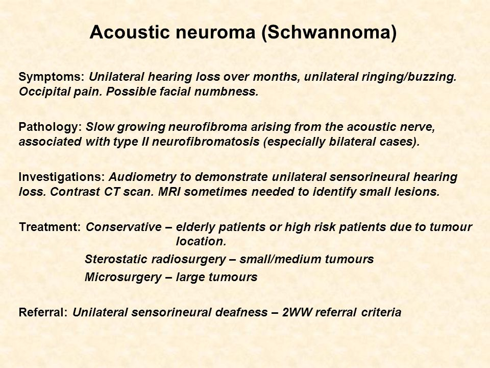Acoustic neuroma (Schwannoma)