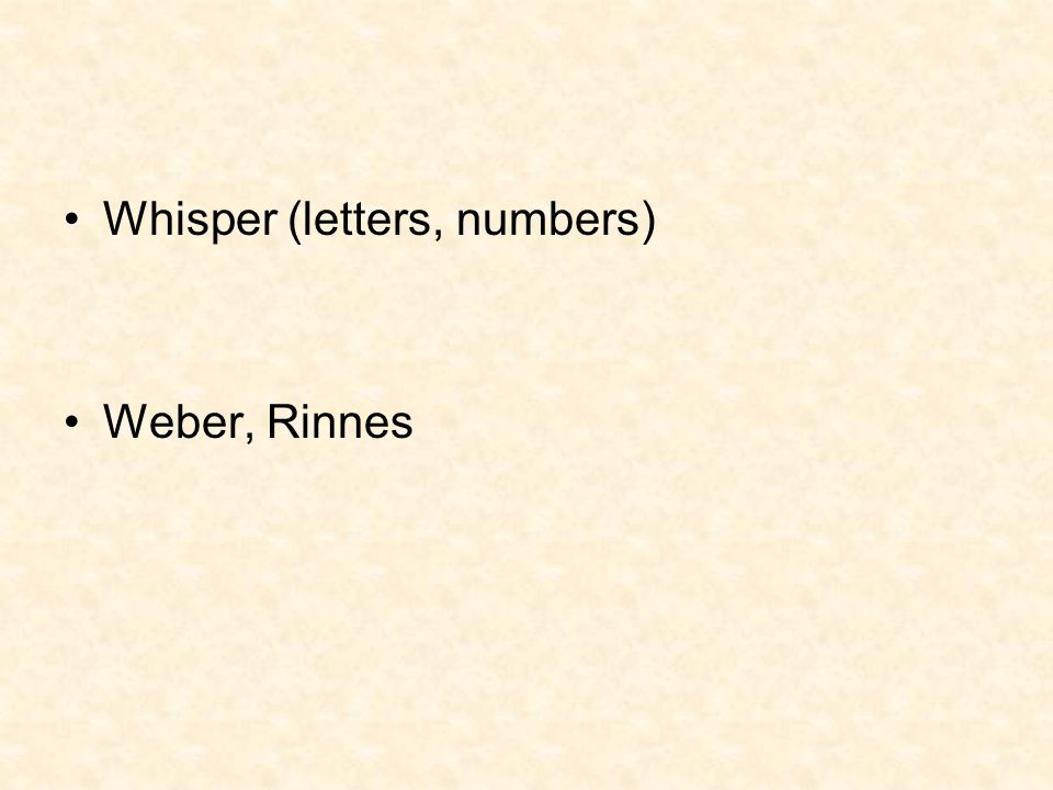 Whisper (letters, numbers)