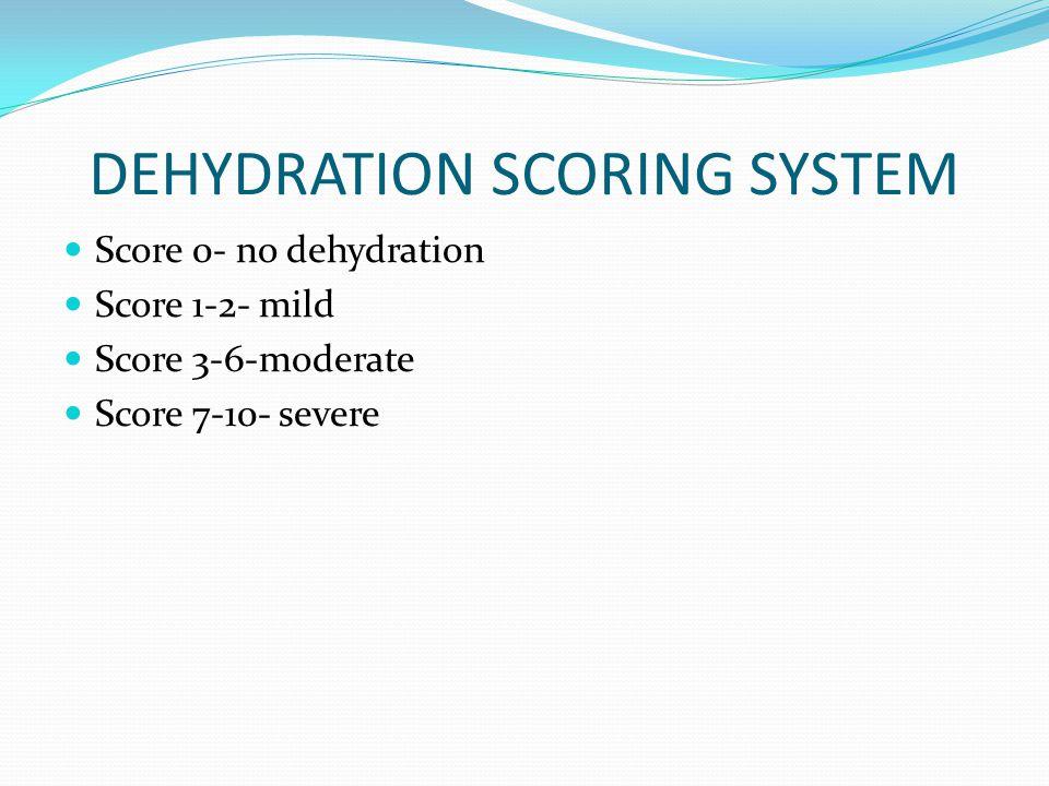 DEHYDRATION SCORING SYSTEM