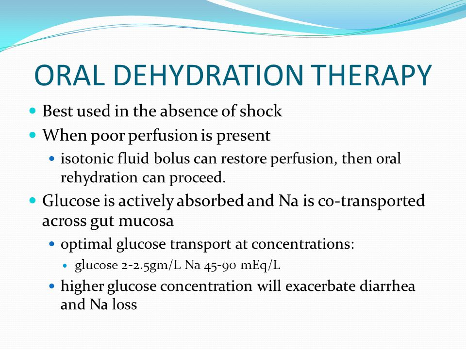ORAL DEHYDRATION THERAPY