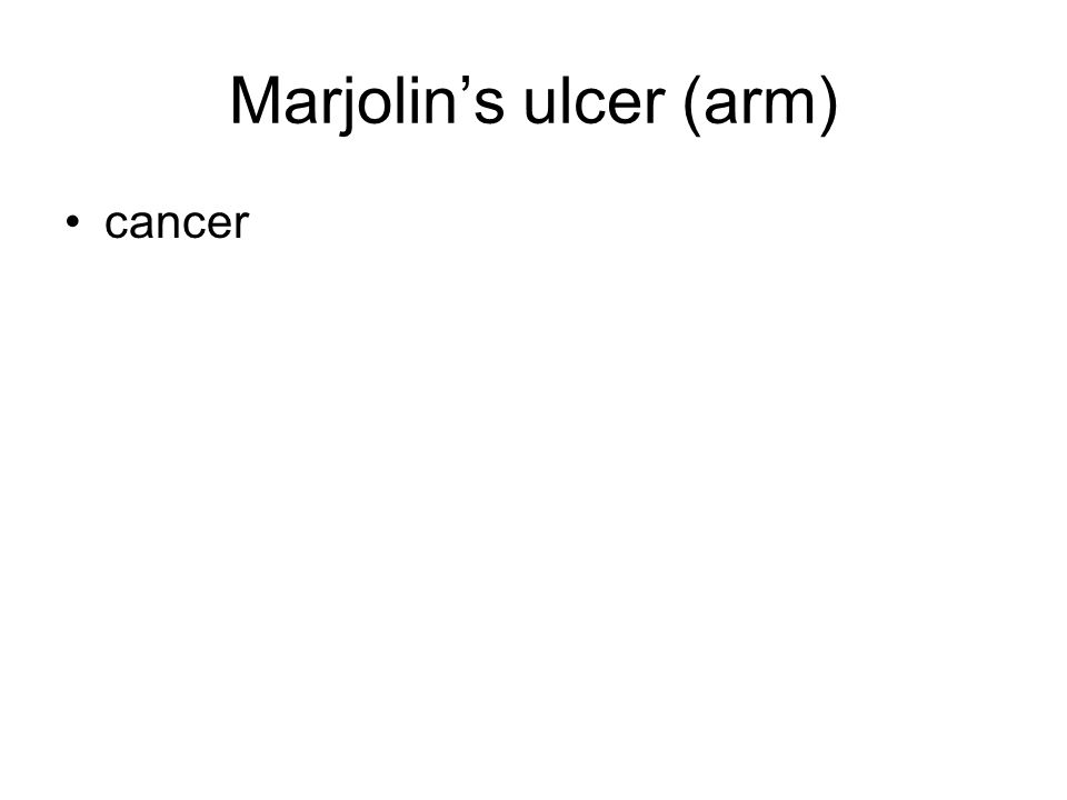 Marjolin's ulcer (arm)