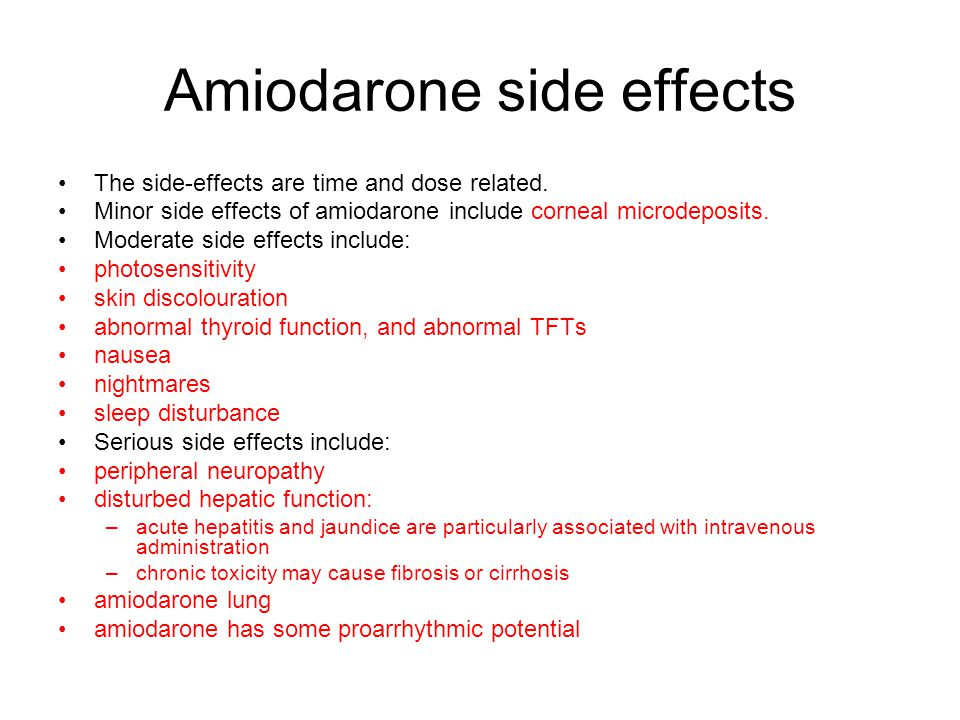 Amiodarone side effects