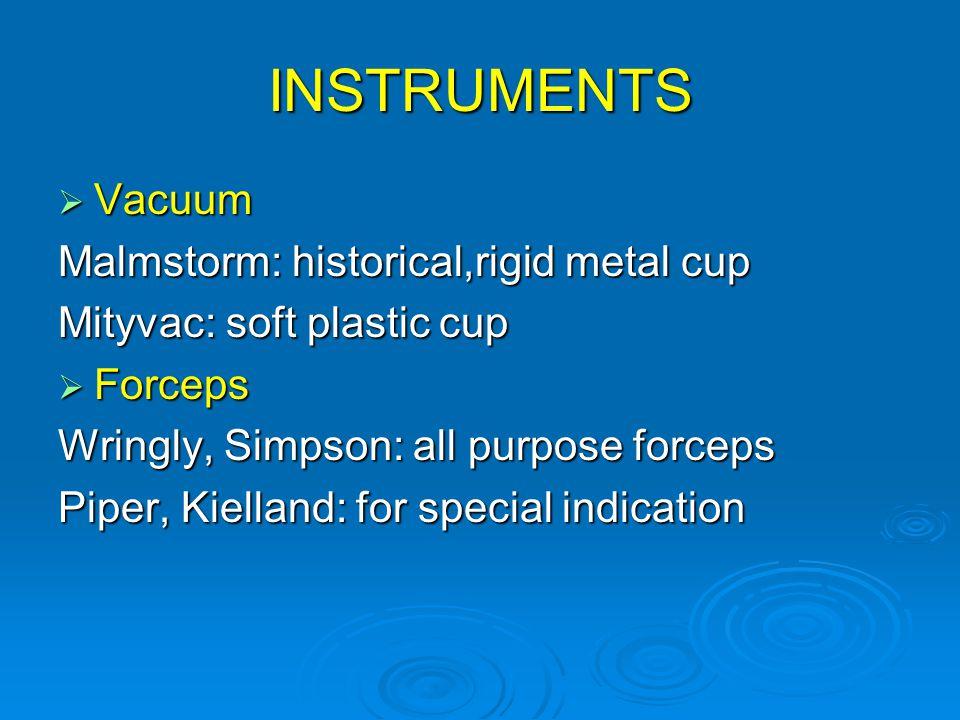INSTRUMENTS Vacuum Malmstorm: historical,rigid metal cup
