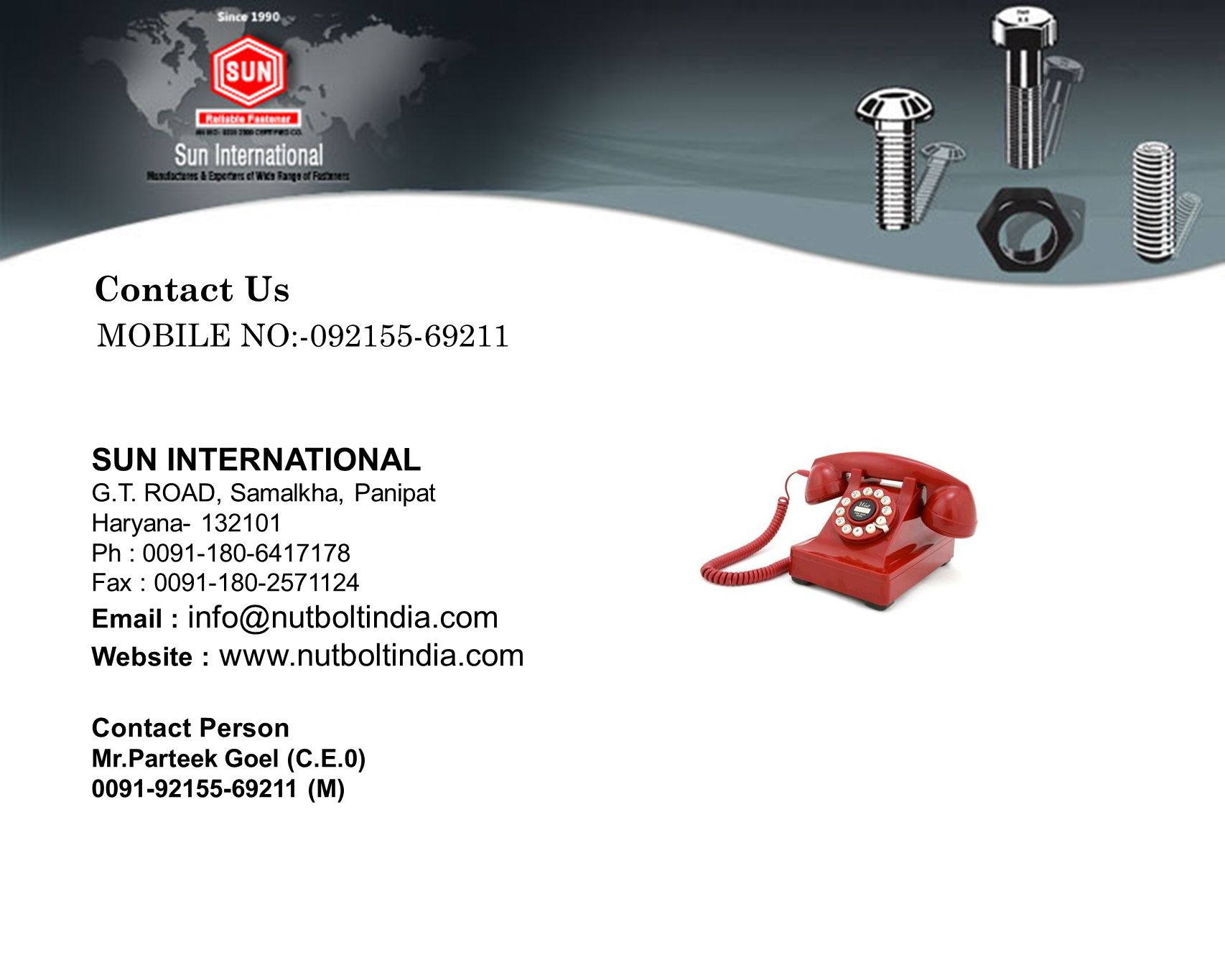 Contact Us MOBILE NO:-092155-69211
