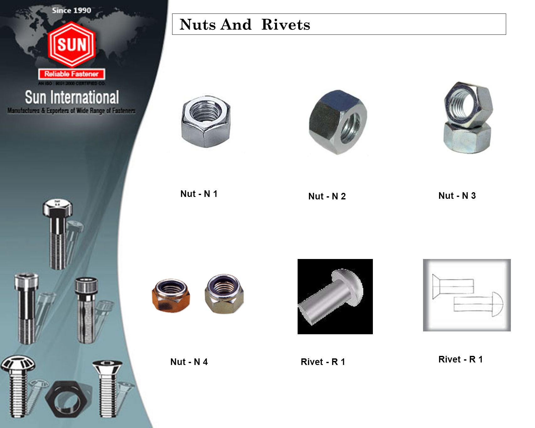 Nuts And Rivets Nut - N 1 Nut - N 2 Nut - N 3 Nut - N 4 Rivet - R 1