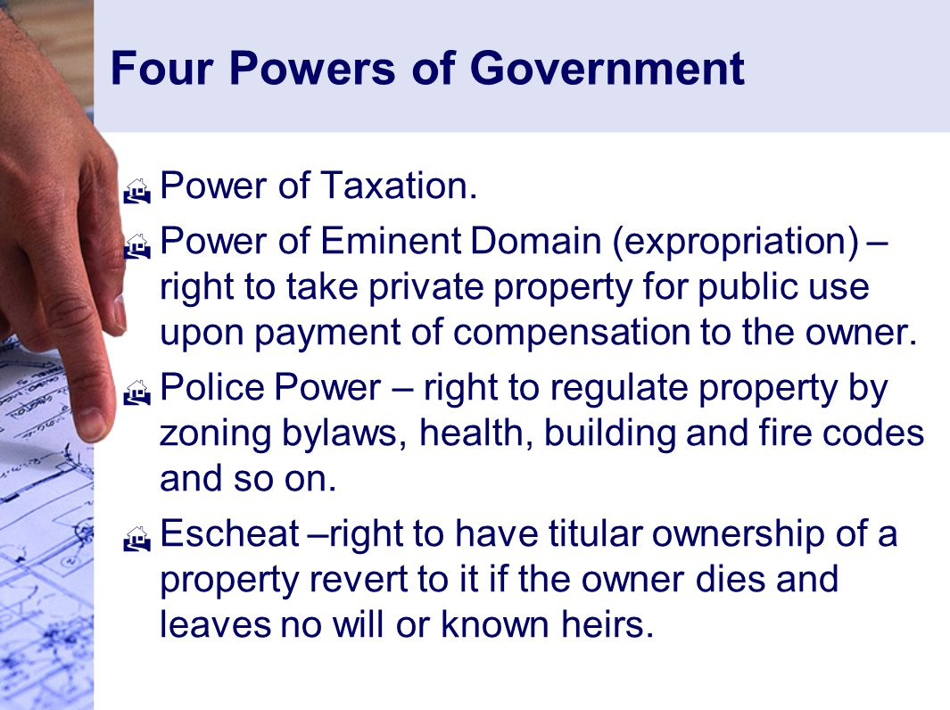 Four Powers of Government