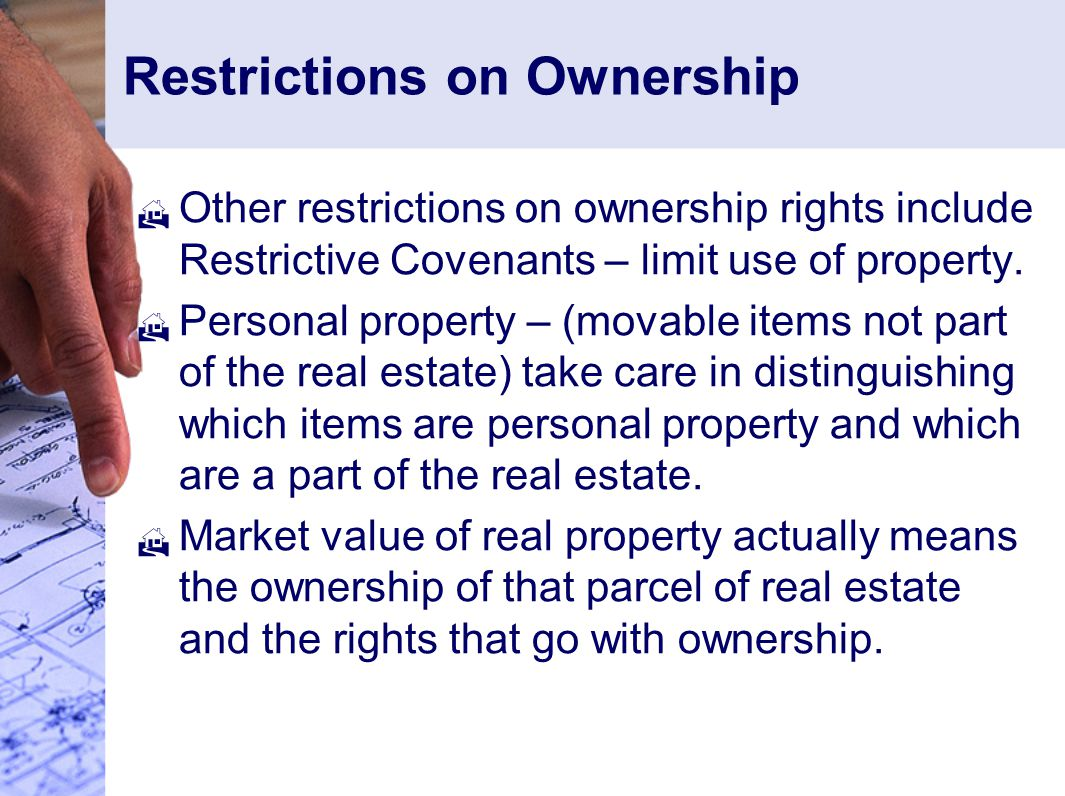 Restrictions on Ownership