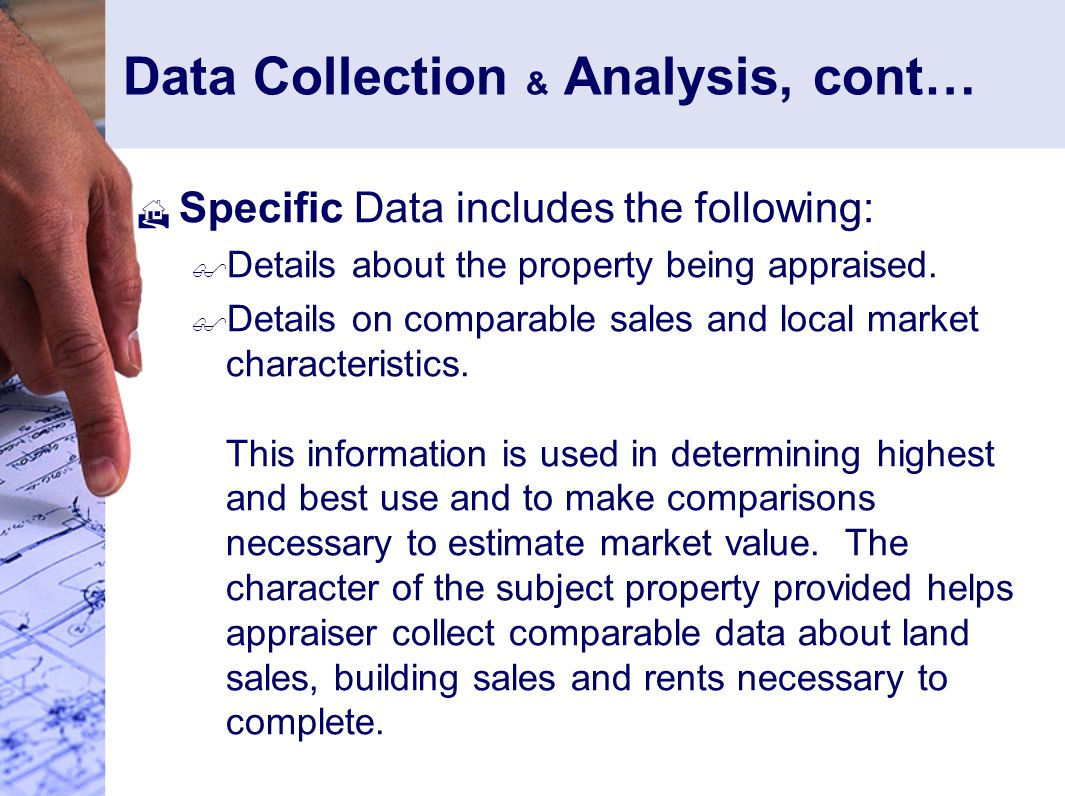 Data Collection & Analysis, cont…