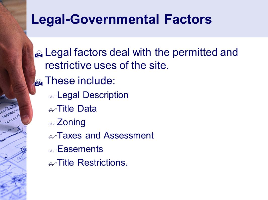 Legal-Governmental Factors