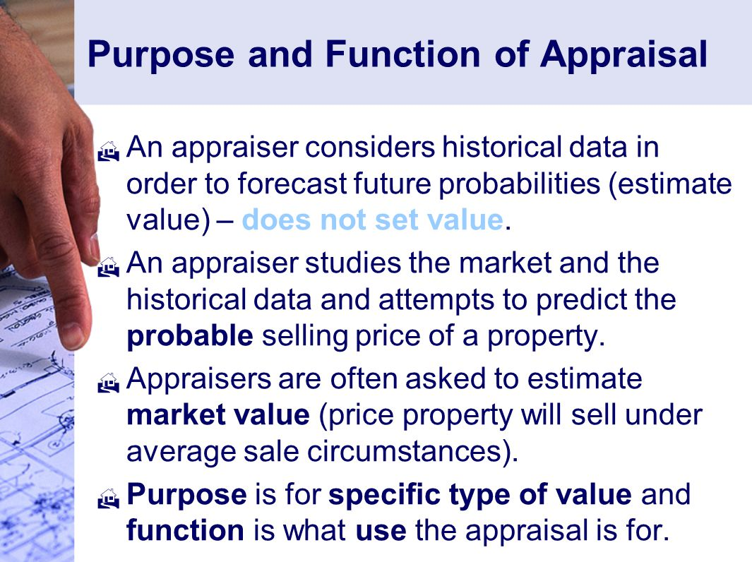 Purpose and Function of Appraisal