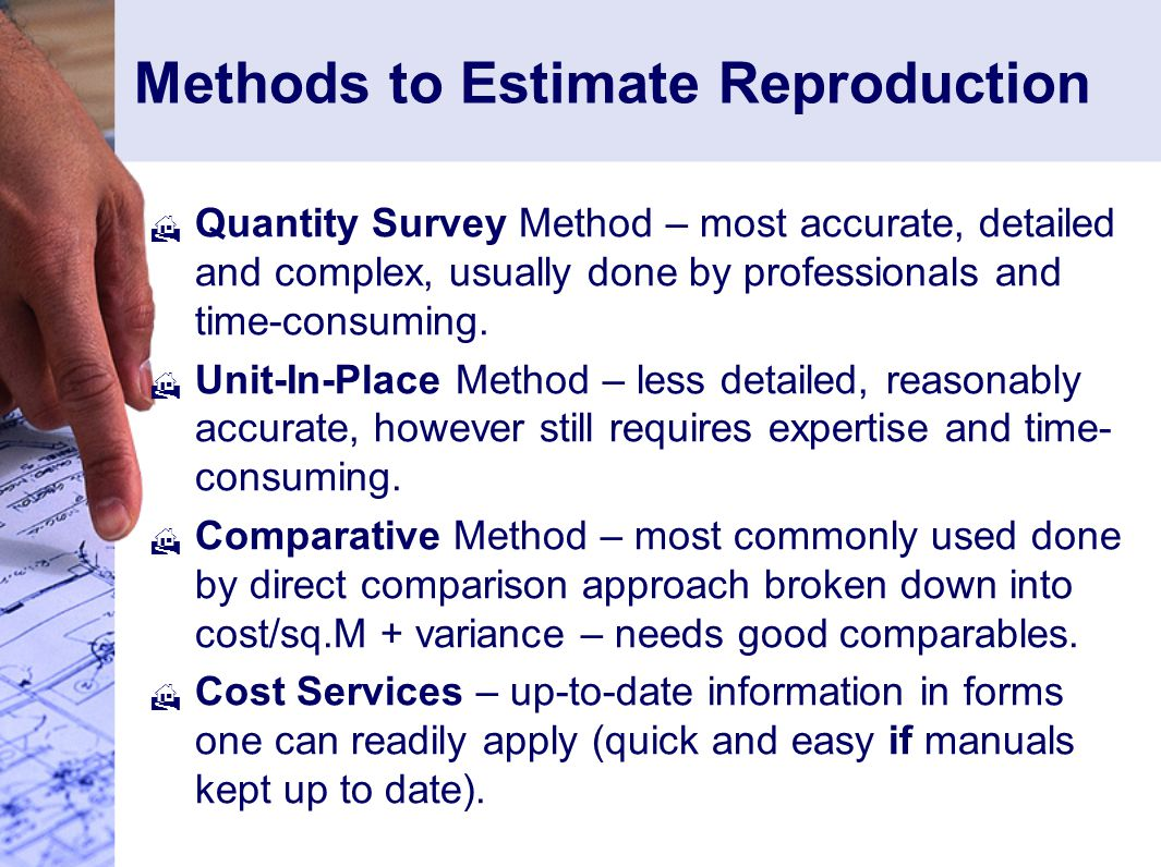 Methods to Estimate Reproduction