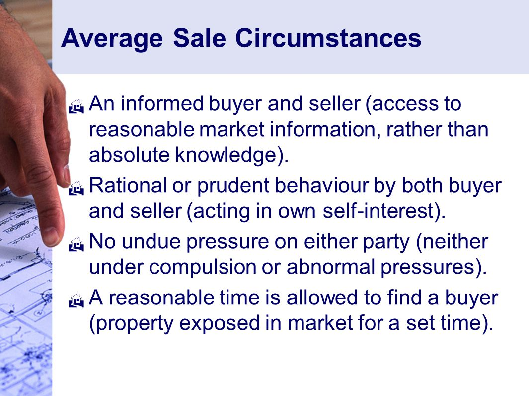 Average Sale Circumstances