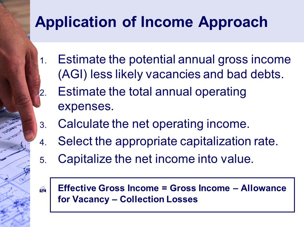 Application of Income Approach