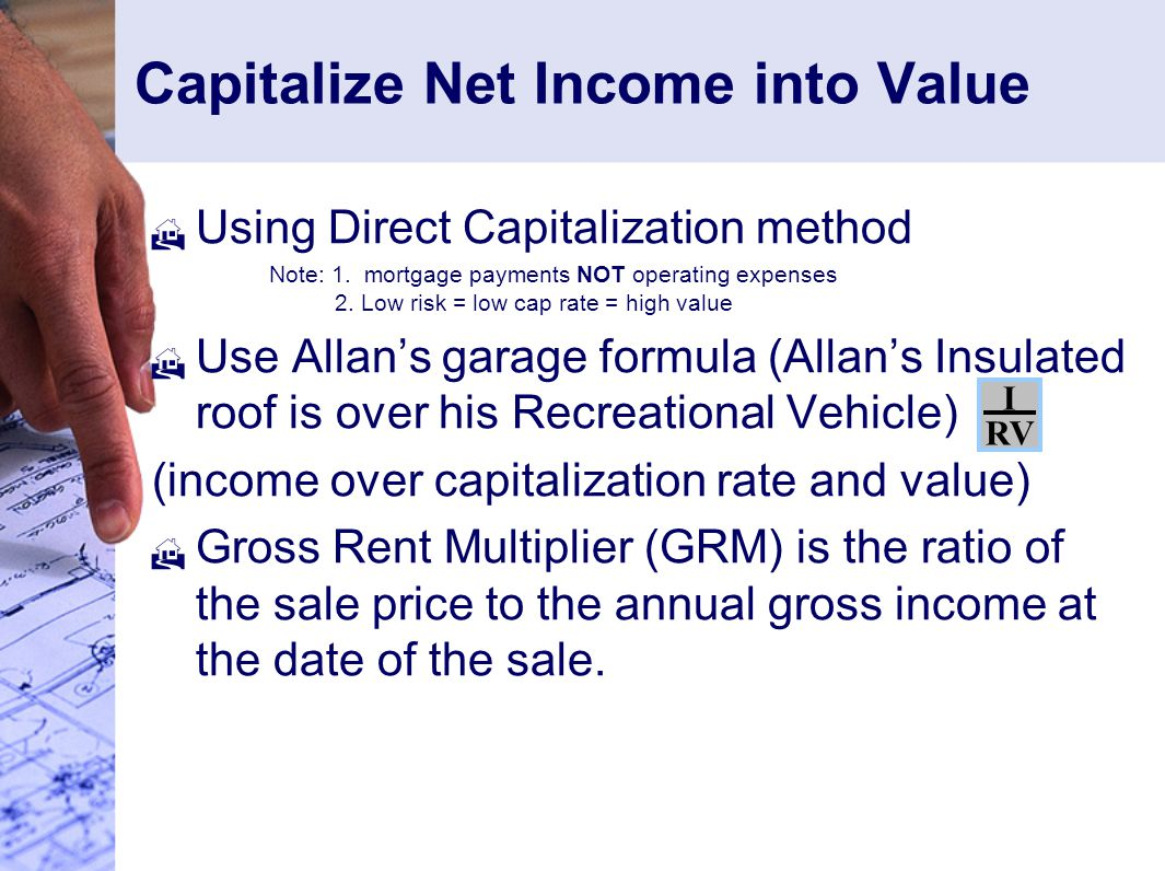 Capitalize Net Income into Value