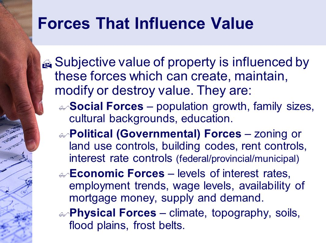 Forces That Influence Value