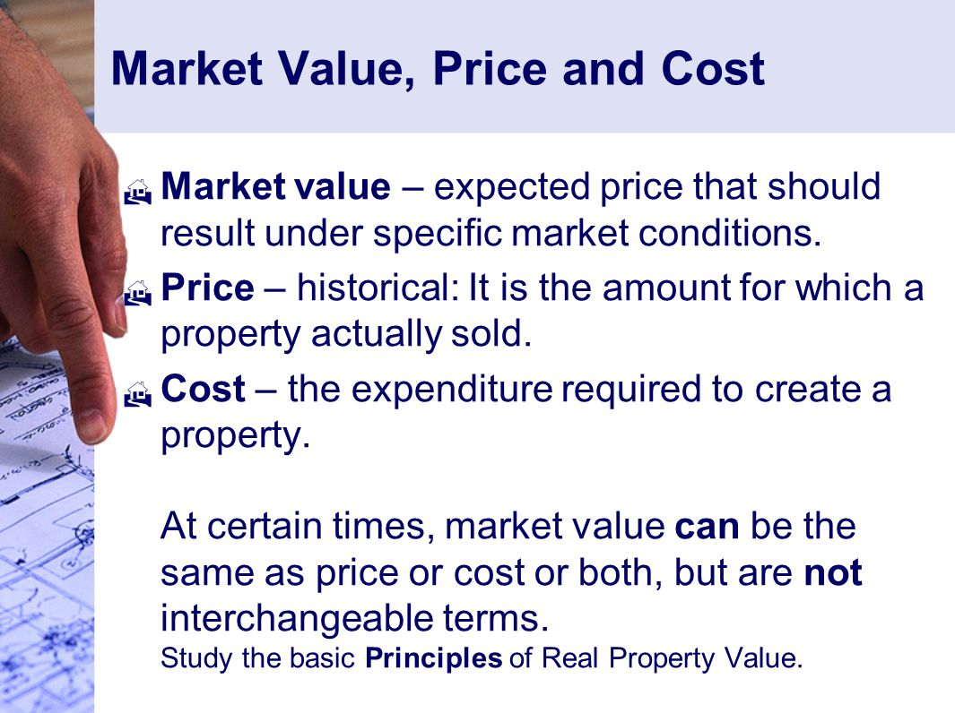 Market Value, Price and Cost