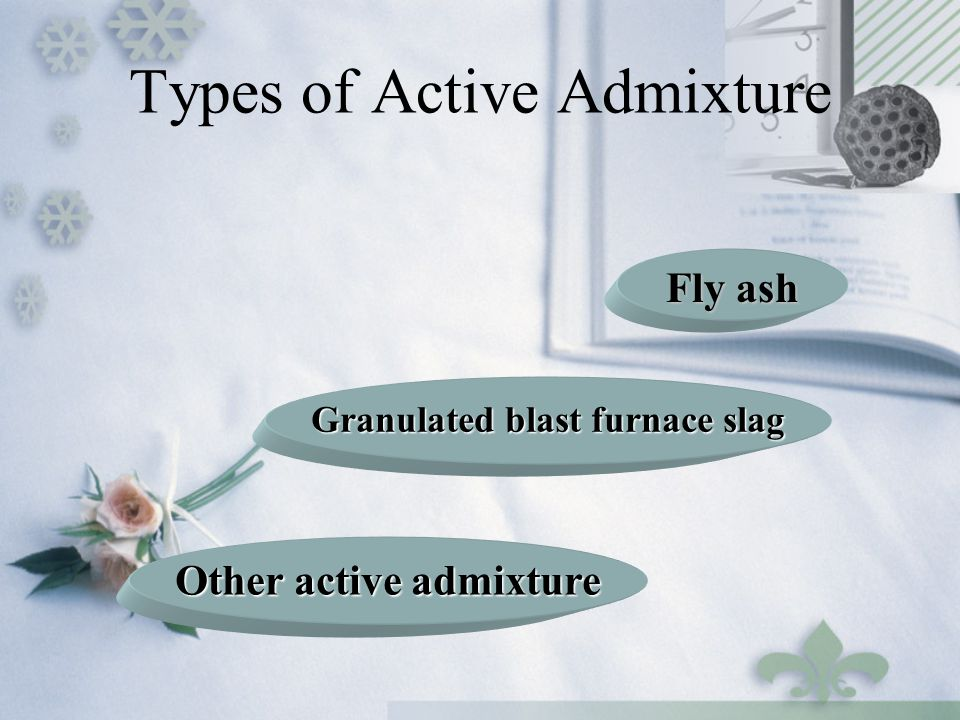 Types of Active Admixture