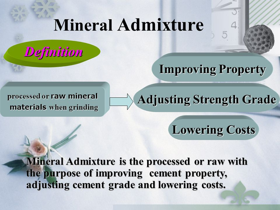 Mineral Admixture Definition Improving Property