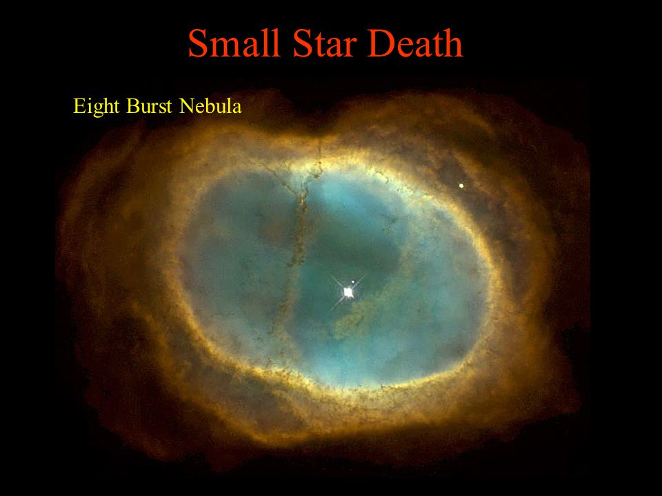 Small Star Death Eight Burst Nebula