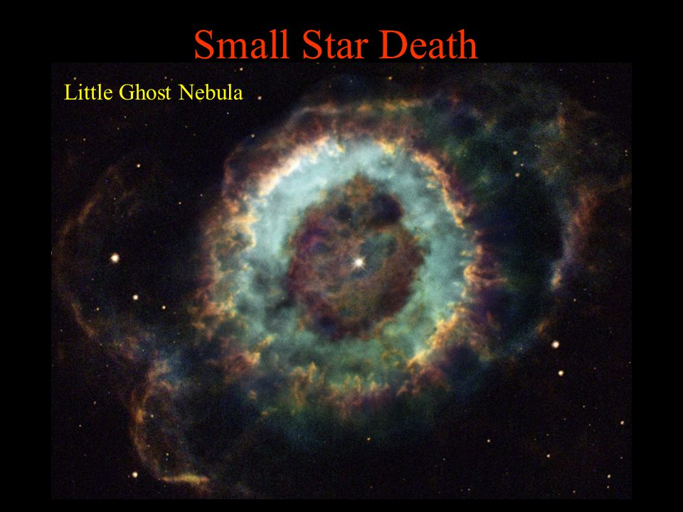 Small Star Death Little Ghost Nebula