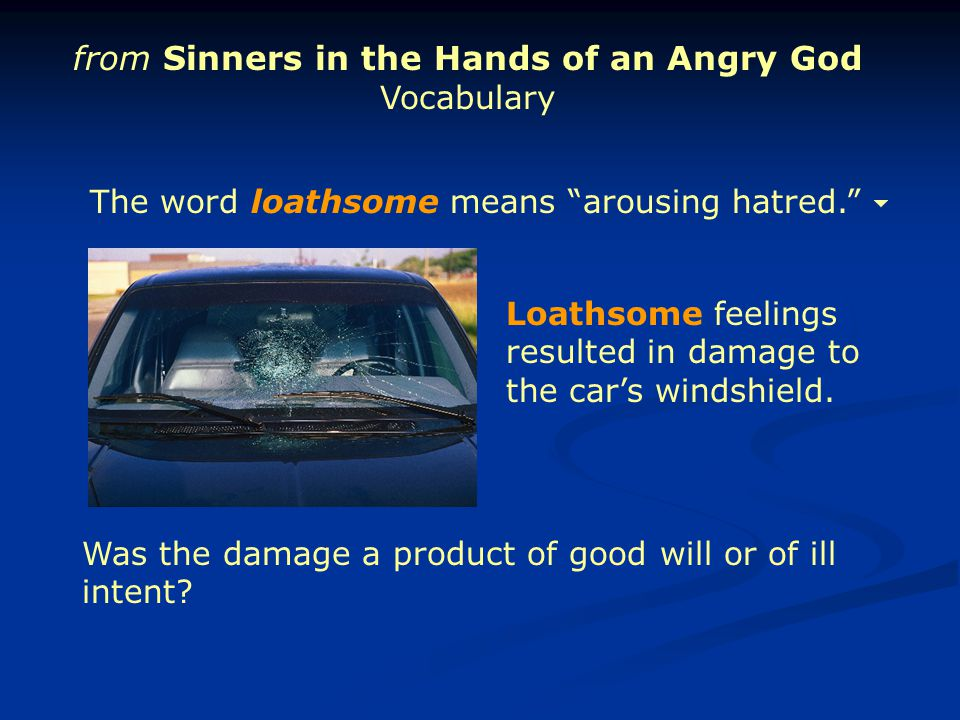 from Sinners in the Hands of an Angry God Vocabulary