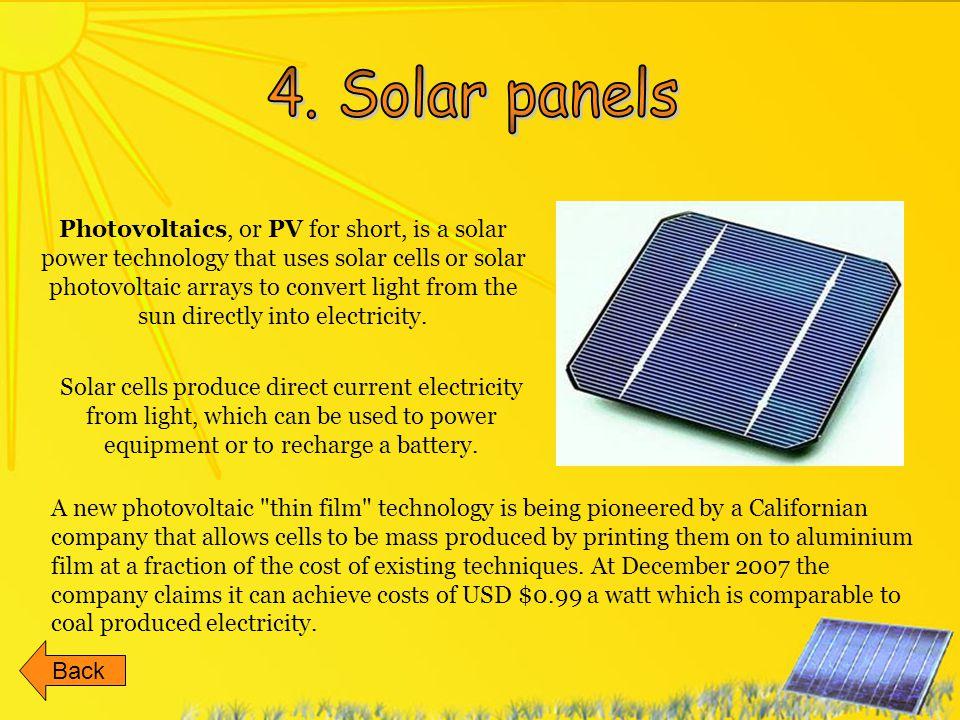 4. Solar panels