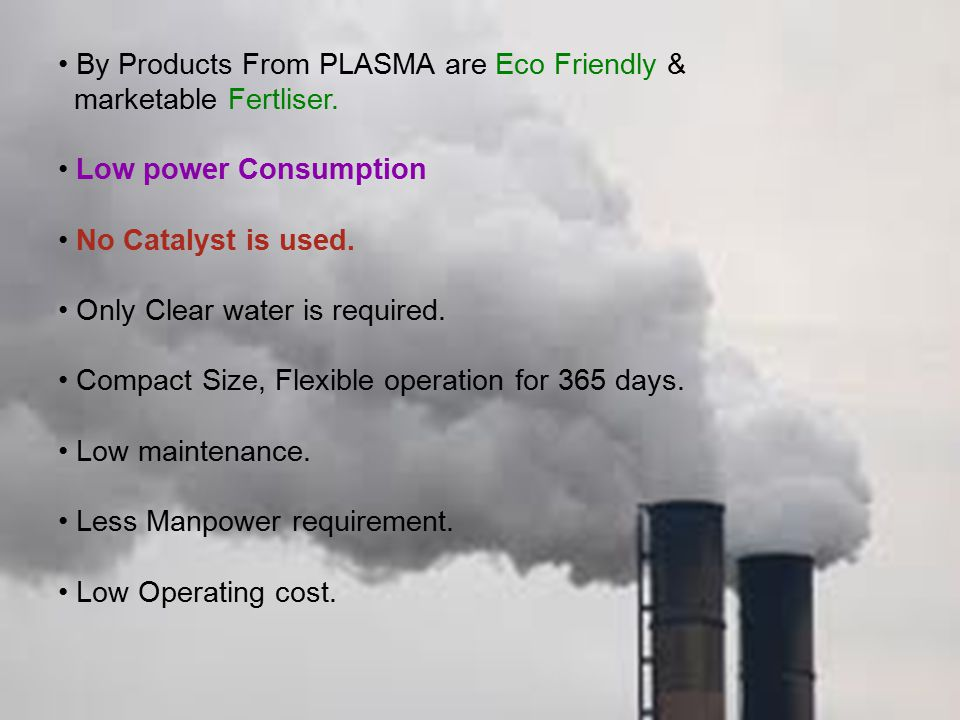 By Products From PLASMA are Eco Friendly &