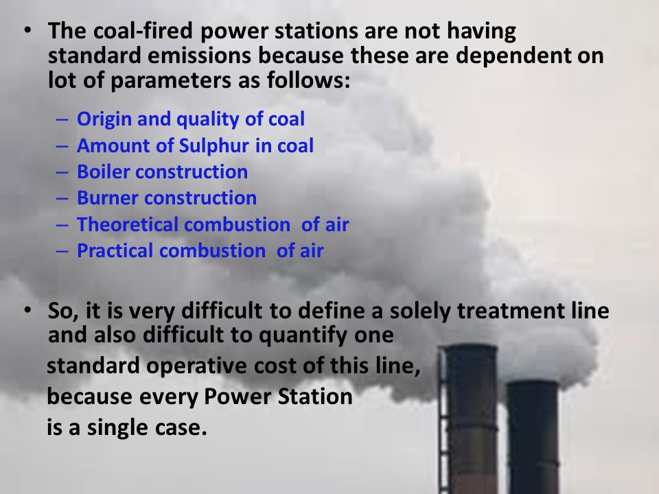 standard operative cost of this line, because every Power Station