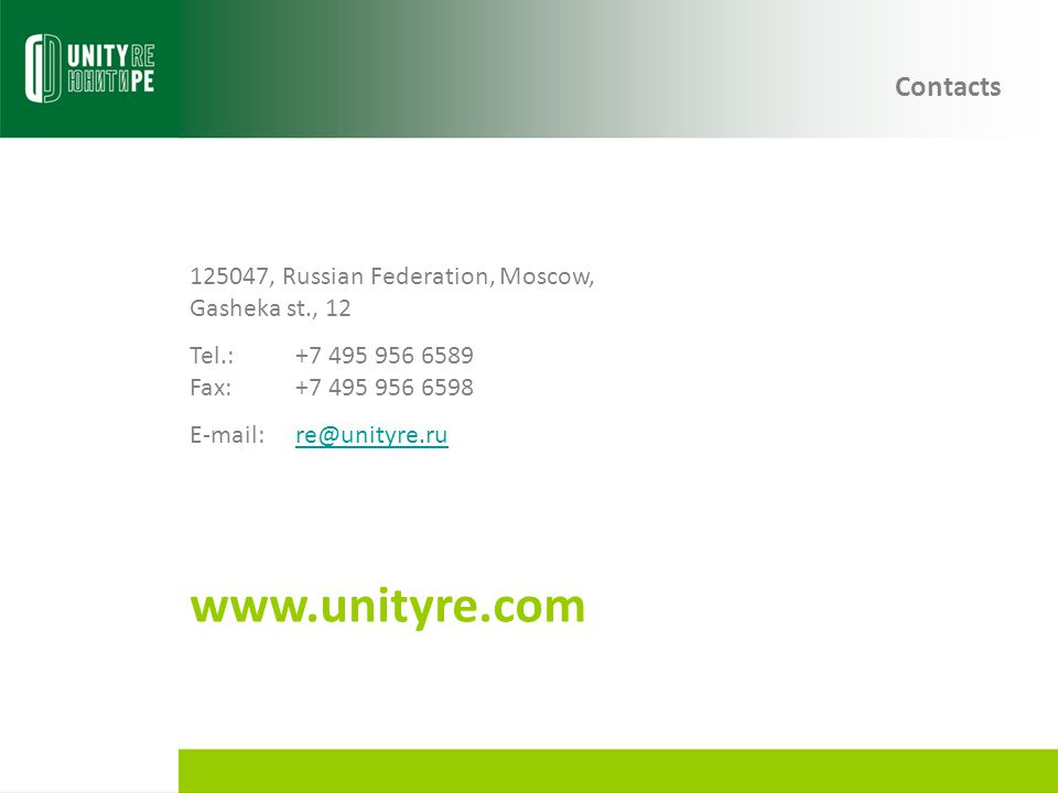 www.unityre.com Contacts