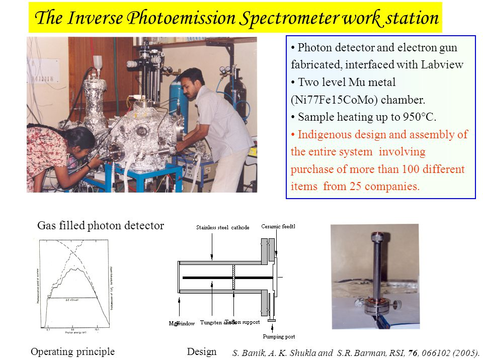 The Inverse Photoemission Spectrometer work station