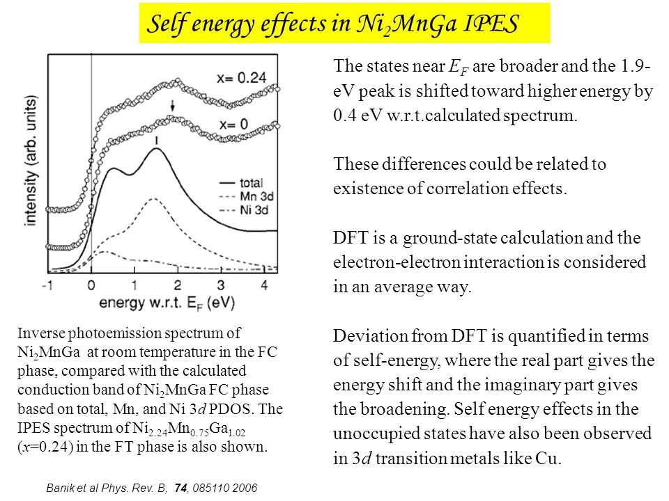 Self energy effects in Ni2MnGa IPES