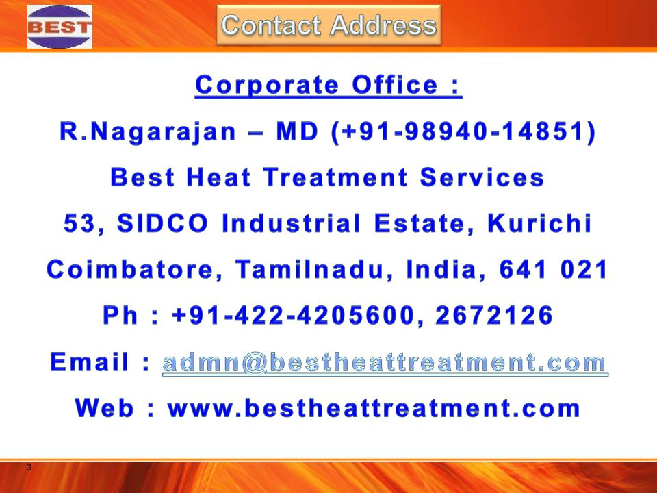 Contact Address Corporate Office : R.Nagarajan – MD (+91-98940-14851)